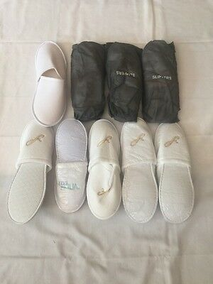 Lot Of 8 NEW Hotel Slippers