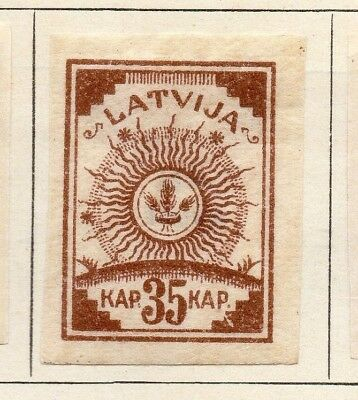 Latvia 1919 Early Issue Fine Mint Hinged 35k. Imperf 142707