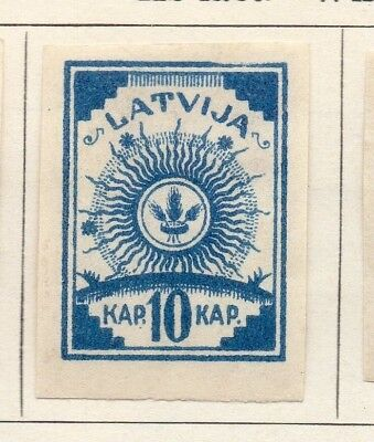 Latvia 1919 Early Issue Fine Mint Hinged 10k. Imperf 142711