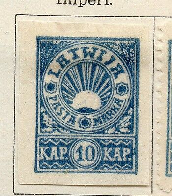 Latvia 1919 Early Issue Fine Mint Hinged 10k. Imperf 142719