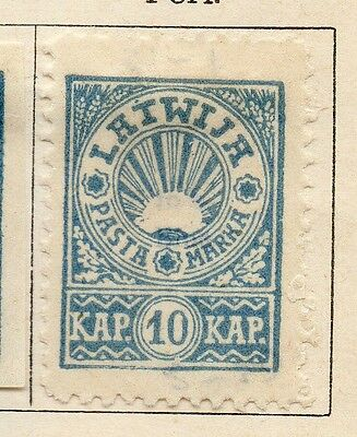 Latvia 1919 Early Issue Fine Mint Hinged 10k. 142720