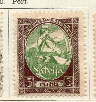 Latvia 1920 Early Issue Fine Mint Hinged 3K. 142740