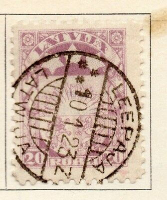 Latvia 1923-24 Early Issue Fine Used 20r. 142748