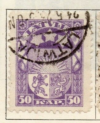 Latvia 1921 Early Issue Fine Used 30k. 142785