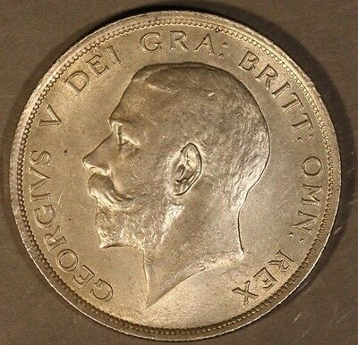 1918 Great Britain George V Silver 1/2 Crown High Grade** FREE U.S. SHIPPING **