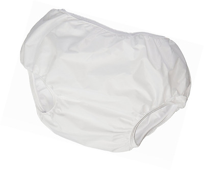 Dappi Waterproof 100% Nylon Diaper Pants, 2 Pack, White, Small