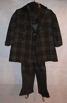 Vintage Warm Winter Children's Plaid Matching Coat, Pants & Hat by Fieldston