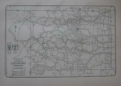 1927 Colorado Large Commercial Auto Road map* Paved, Improved, State Hwys., etc