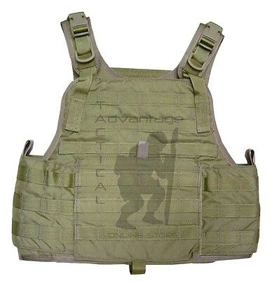 Eagle Industries MOLLE Plate Carrier w/Cummerbund - 500D khaki LG/XL U.S. Made