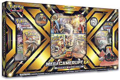 POKEMON Mega Camerupt EX Premium Collection Box Gift Set SEALED IN HAND!!