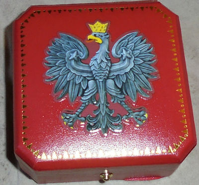 Royal Poland Eagle Polish Pole Kingdom Knight King Medal Coin Badge Box Case P Z