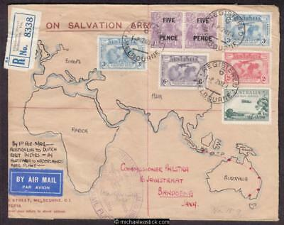 31 May 1931, Registered mail Melbourne to Java