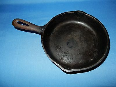 "Vintage #3 Wagner ""H""  6 1/2"" Fry Frying Egg Pan Skillet Cast Iron USA Made"