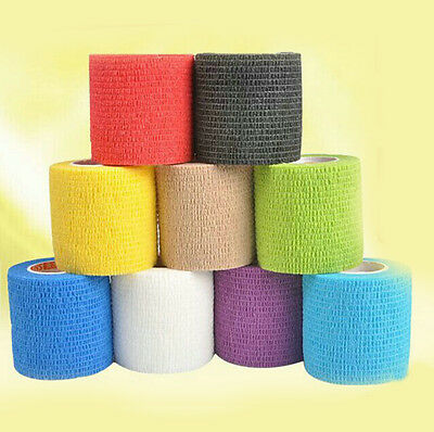 Self-adhesive Elastic Wrap Bandages Sports First Aid Body Gauze Tape Stretch