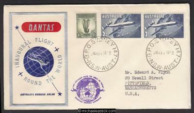 14 Jan 1958, Qantas round the world flight, via Sydney-USA-London-Sydney