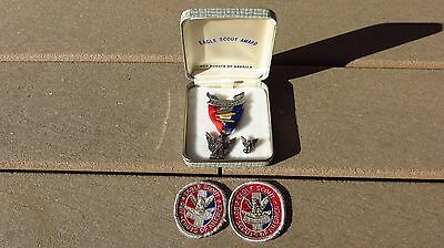 Boy Scout Eagle Medal Robbins Type 4 w/ 3 Palm Circa 1955-1969 : Sterling