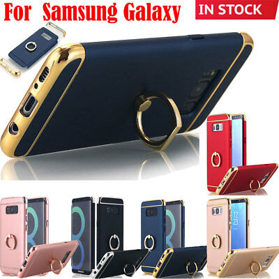 F Samsung Galaxy S9+ Note 8 S8 S8+ Phone Case Ring Holder Stand Slim Phone Cover