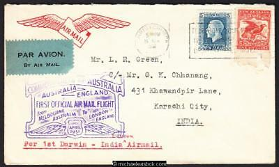 23 Apr 1931, Imperial Airways flight sent from New Zealand to India