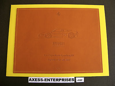 Ferrari F355 Challenge Commemorative Schedoni Leather Tile Las Vegas 1997 # J197