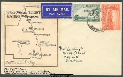 30 July 1934, 1st Official Flight Cairns to Brisbane
