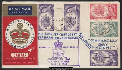 2 Jun 1953, Qantas special Coronation Day flight Sydney-London-Sydney