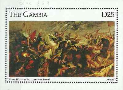 Timbre Arts Tableaux Rubens Gambie BF274 ** année 1995 lot 19662