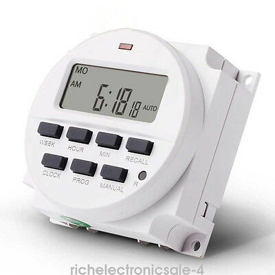 Universal Digital Electronic Power Programmable 12/24 Hour Timer Switch Sockets