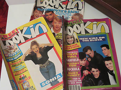 3 Lookin Magazines from 1989 and 1990, Sonia, New Kids on the Block