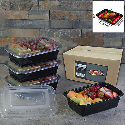 Microwave Safe Plastic Meal Prep Container Lunch Box Food Storage 1 Compartment