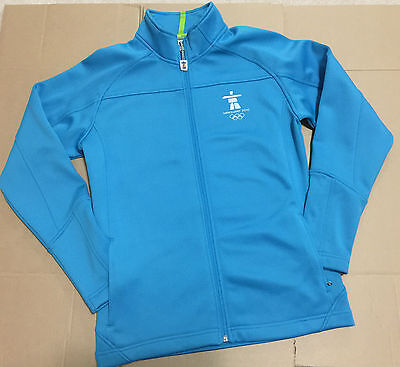 Canada Olympic Vancouver 2010 Official Blue Jacket With Fleece Womens Size S