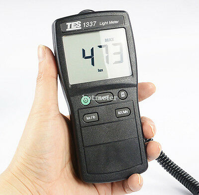 TES-1337 Digital Light Meter 0 to 20,000 Lux, 0 to 20,000 fc.
