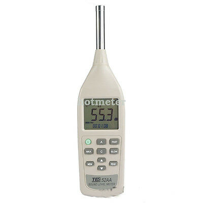 TES-52AA Sound Level Meter Brand New Range from 26 to 130dB 0.1dB Resolution