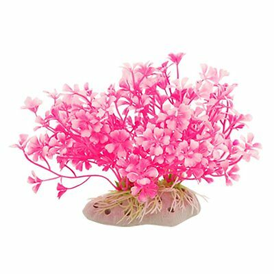 Sourcingmap Plastic Fish Tank Aquatic Dwarf Plant/Grass, Hot Pink/ White