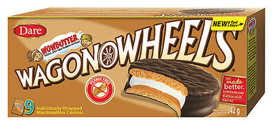 Dare Wowbutter Wagon Wheels Chocolate 9ct.342g box {Imported from Canada}