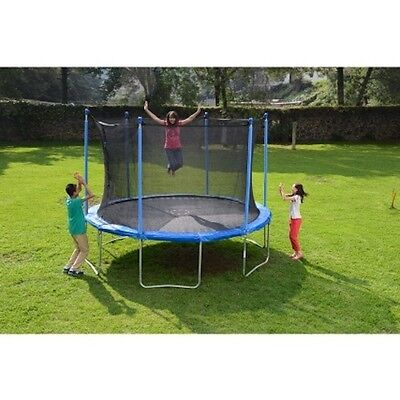 New Outdoor Kids Fun JuMping Summer Trampoline and Enclosure 12ft PlaY Time