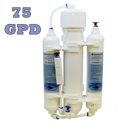 Finerfilters 3 Stage Reverse Osmosis System - RO Unit - Marine Discus (75GPD)