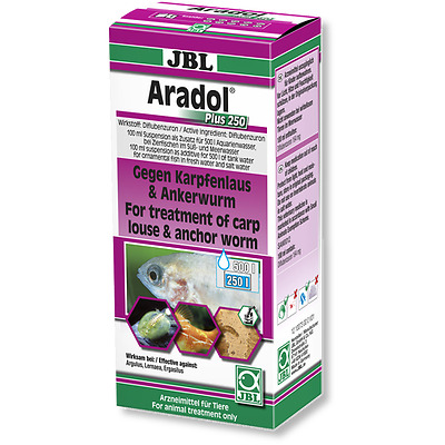JBL Aradol Plus 250 100ml - (Remedy Against Carp Lice And Anchor Worms In Aquari