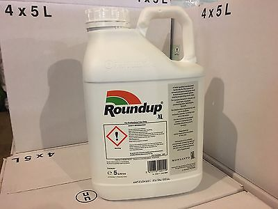 Roundup Weedkiller xl 360 5 l  Litre  Glyphosate Weedkiller Very Strong