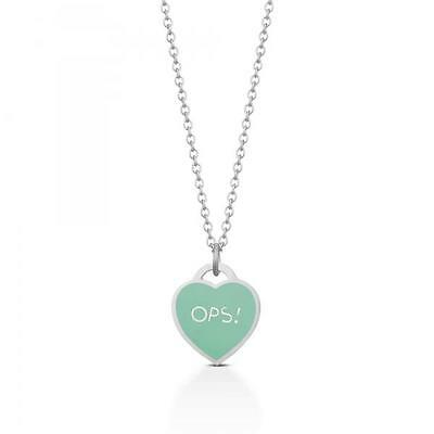 Collana OPS Objects Donna Paint Cuore Verde Acqua OPSCL-440