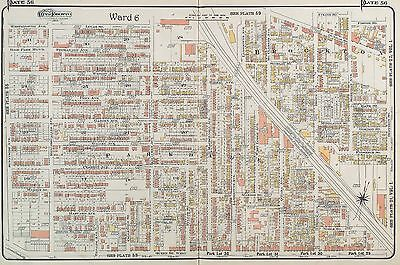 1910 Toronto Canada Brockton Parkdale Atkins St To Queens St West Goad Atlas Map