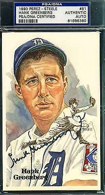 Hank Greenberg Signed Perez Steele Psa/dna Authentic Autograph