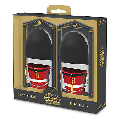 Eddingtons Egg Cup Buckets Guardsman Set of 2 - Easter Egg Cup Pails/Buckets