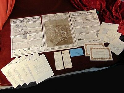 1922 EAST TEXAS Angelina County Oil Leases GET RICH QUICK Wheatley PONZI SCHEME