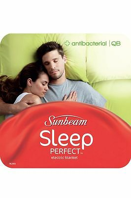 NEW Sunbeam Sleep Perfect Antibacterial Electric Blanket