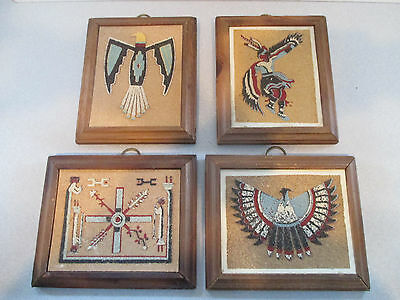 Vintage Collectible Native American Indian Art - Set Of 4