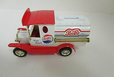 Pepsi Cola Coin Bank Toy Model Tank Truck