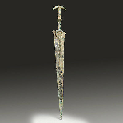 A Luristan Bronze Sword with Crescents