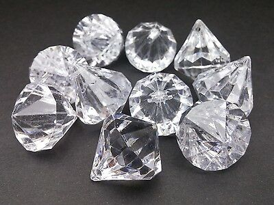 Large Diamond Shaped Plastic Beads 25mm x 20.5mm