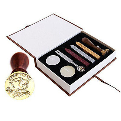 Beauty and the Beast Rose Vintage Wax Seal Stamp Box Gift Set
