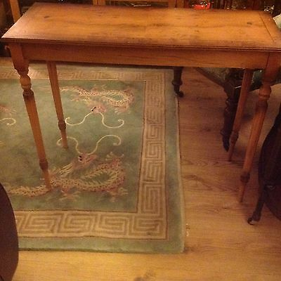 Reproduction antique console table Yew Wood